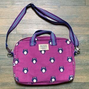 Sloane Ranger Purple Blue Owl Crossbody Bag